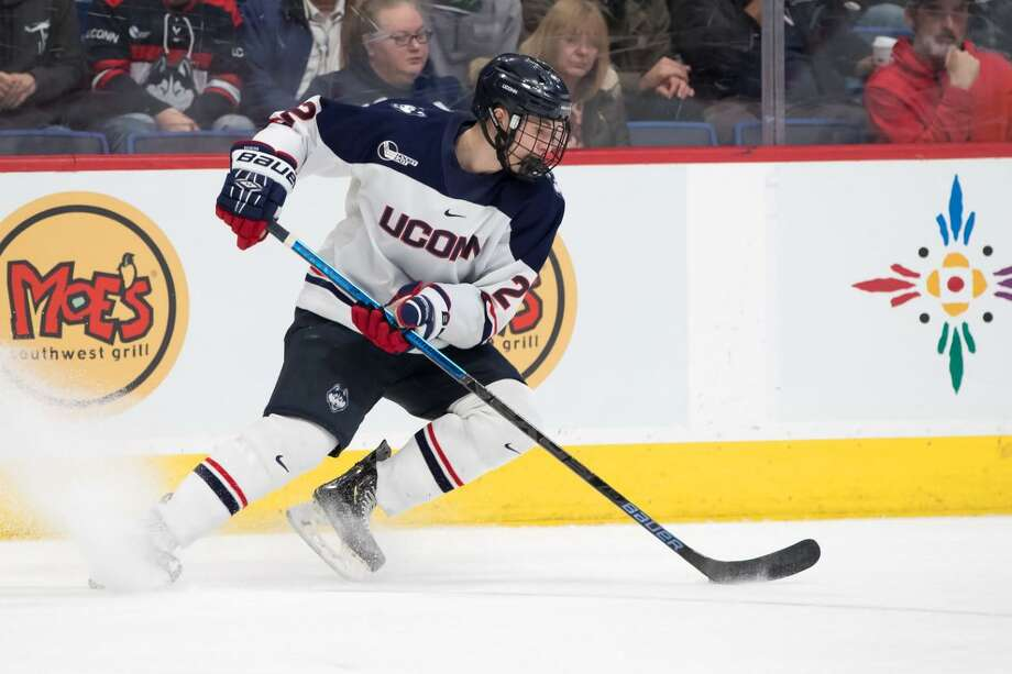 UConn defenseman Yan Kuznetsov was taken by the Calgary Flames with the 50th pick in the 2020 NHL draft. Photo: Contributed Photo /UConn Athletics /