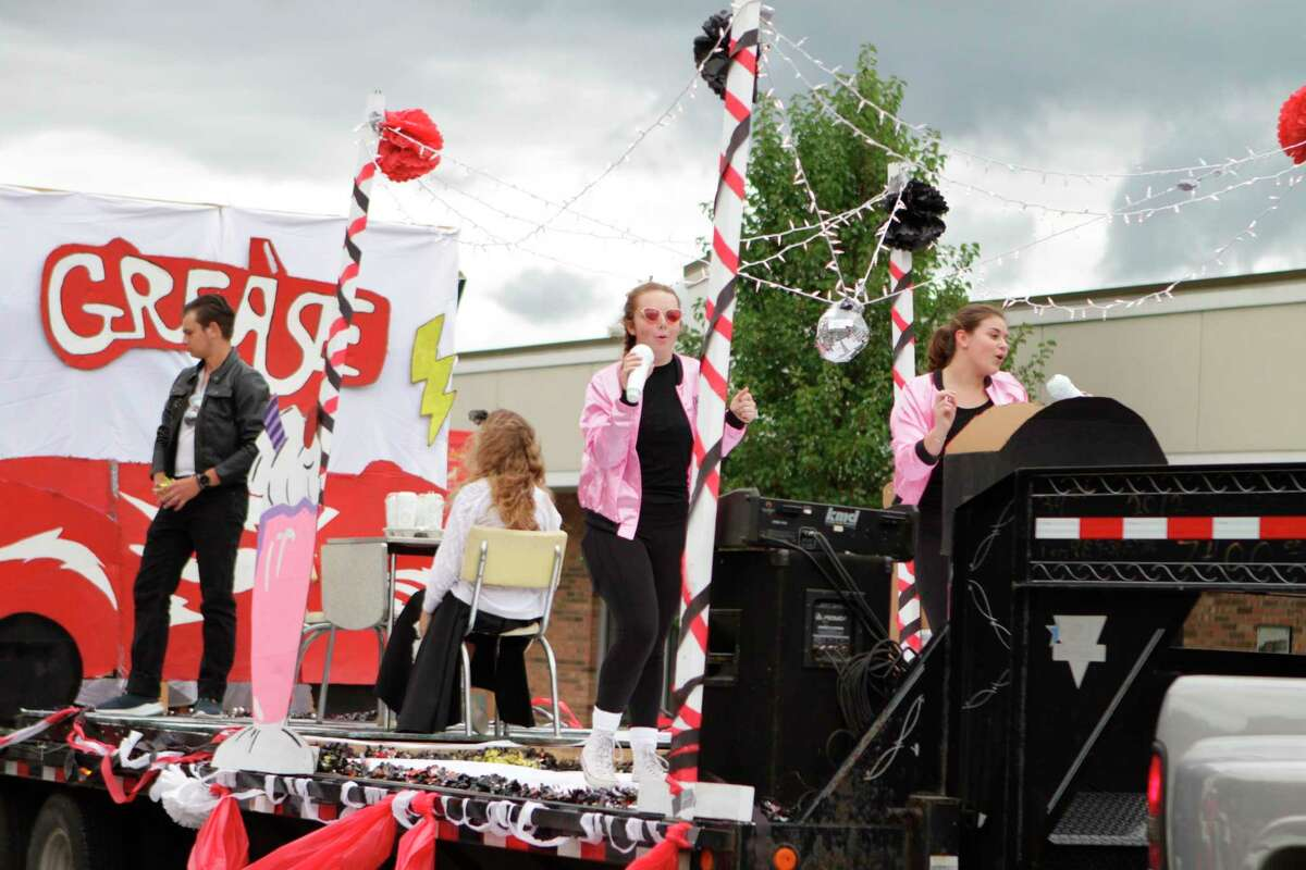 Big Rapids High School students parade down North Michigan Ave. during last year's homecoming celebrations. This year, the school will not host its annual parade. (Pioneer file photo)