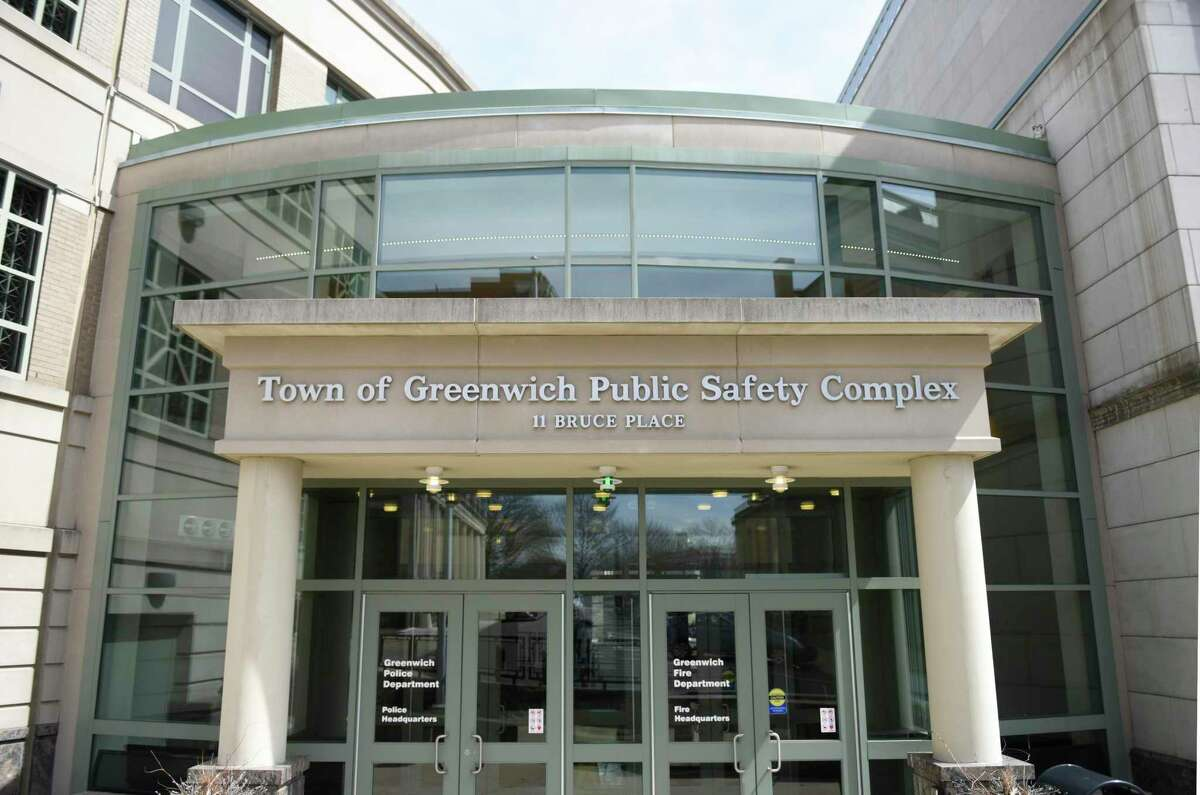 The Greenwich Public Safety Complex containing the town Police Department and the Fire Department in Greenwich, Conn., photographed on Tuesday, April 2, 2019.