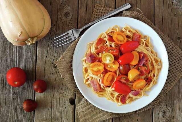 Pastene Tri Color Tomato Linguine (recipe in column): Try this new tomato product in this simple recipe.
