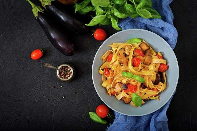 Pastene Fettuccine alla Melanzane (recipe in column): A variation of eggplant Parmesan.