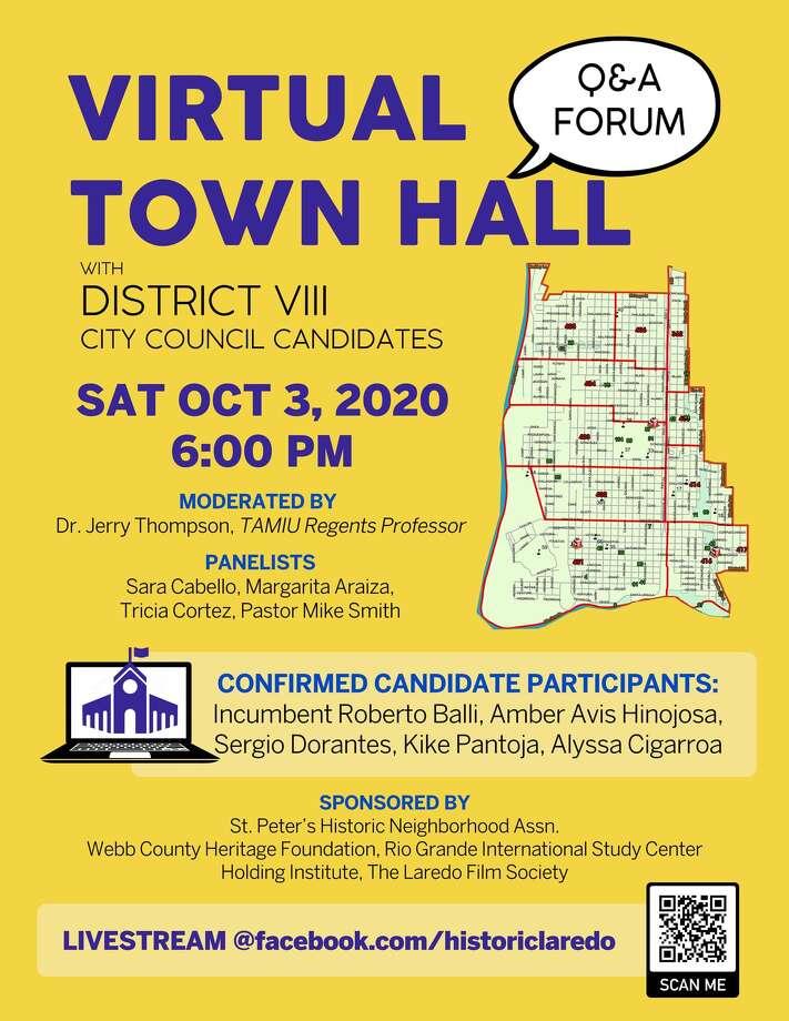 Virtual Town Hall District VIII Photo: Courtesy