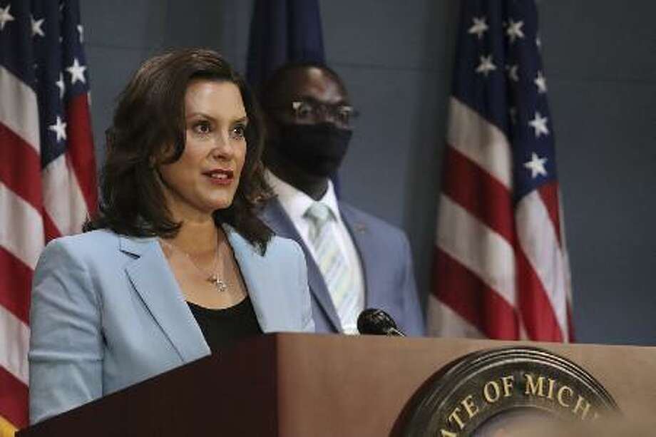 Gov. Gretchen Whitmer, seen Sept. 2, in this file photo provided by the Michigan Office of the Governor. (Michigan Office of the Governor via AP, File) Photo: (Michigan Office Of The Governor Via AP, File)