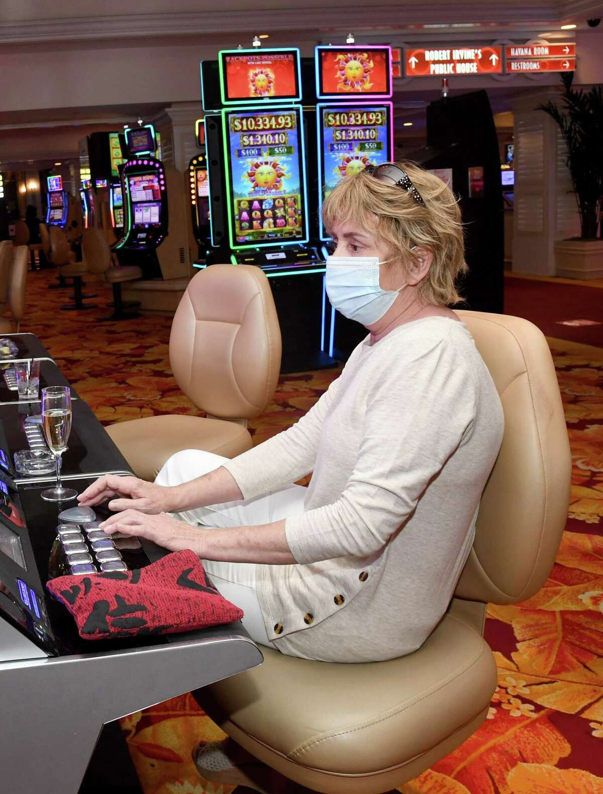 Casinos in Las Vegas are open. But shows remain dark and conventions have yet to return.