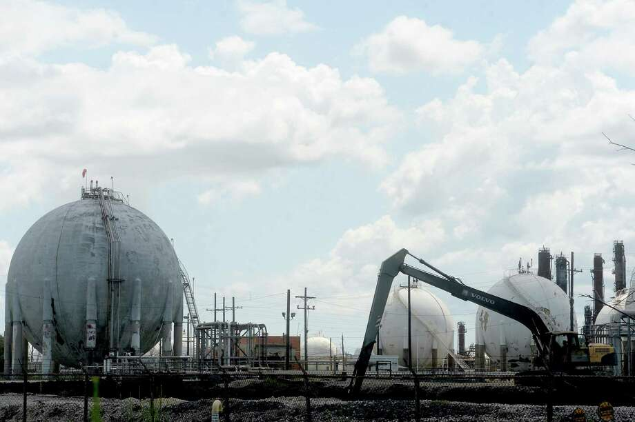 Work is underway Friday at the TPC Group plant in Port Neches, where demolition at the site began Thursday. Photo taken Friday, August 14, 2020 Kim Brent/The Enterprise Photo: Kim Brent / The Enterprise / BEN