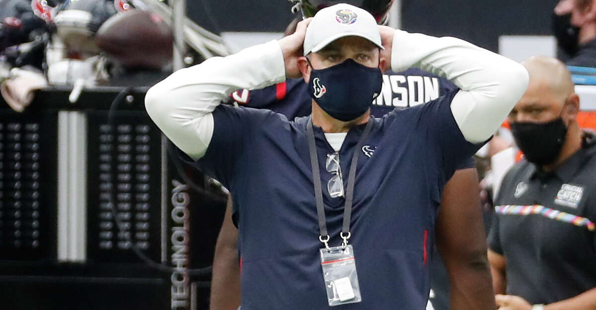 Houston Texans head coach Bill O'Brien stands on the sidelines as time runs out during the fourth quarter of an NFL football game against the Minnesota Vikings at NRG Stadium on Sunday, Oct. 4, 2020, in Houston.