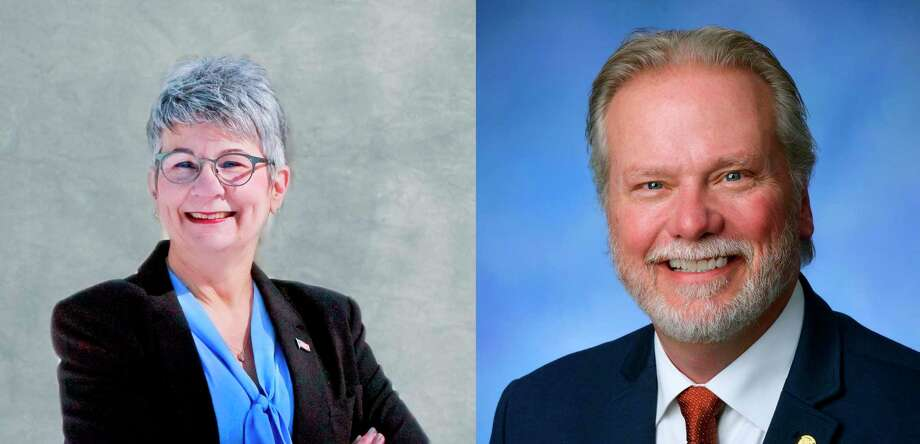 Democrat Beth McGill-Rizer is taking on Republican incumbent Jack O'Malley in theNov. 3 generalelectionfor the 101st District for the House of Representatives seat. (Courtesy photos)