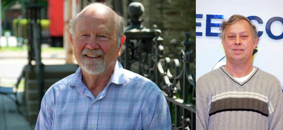 Allan O'Shea (left) will take on incumbent Richard Schmidt for Manistee County Board of Commissioner's District 2 seat on Nov. 3. (Courtesy photo)