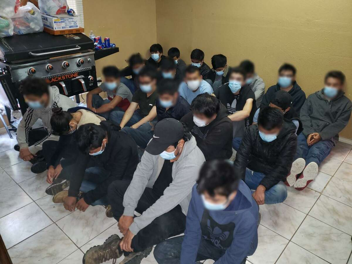U.S. Border Patrol agents discovered these individuals inside a south Laredo home. All were immigrants who were in the country illegally.