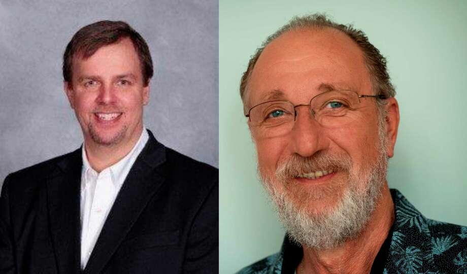 Republican Eric Gustad (left) will face off with Democrat Rolf Wucherer for the 4th district seat on the Manistee County Board of Commissioners. (Courtesy Photo)