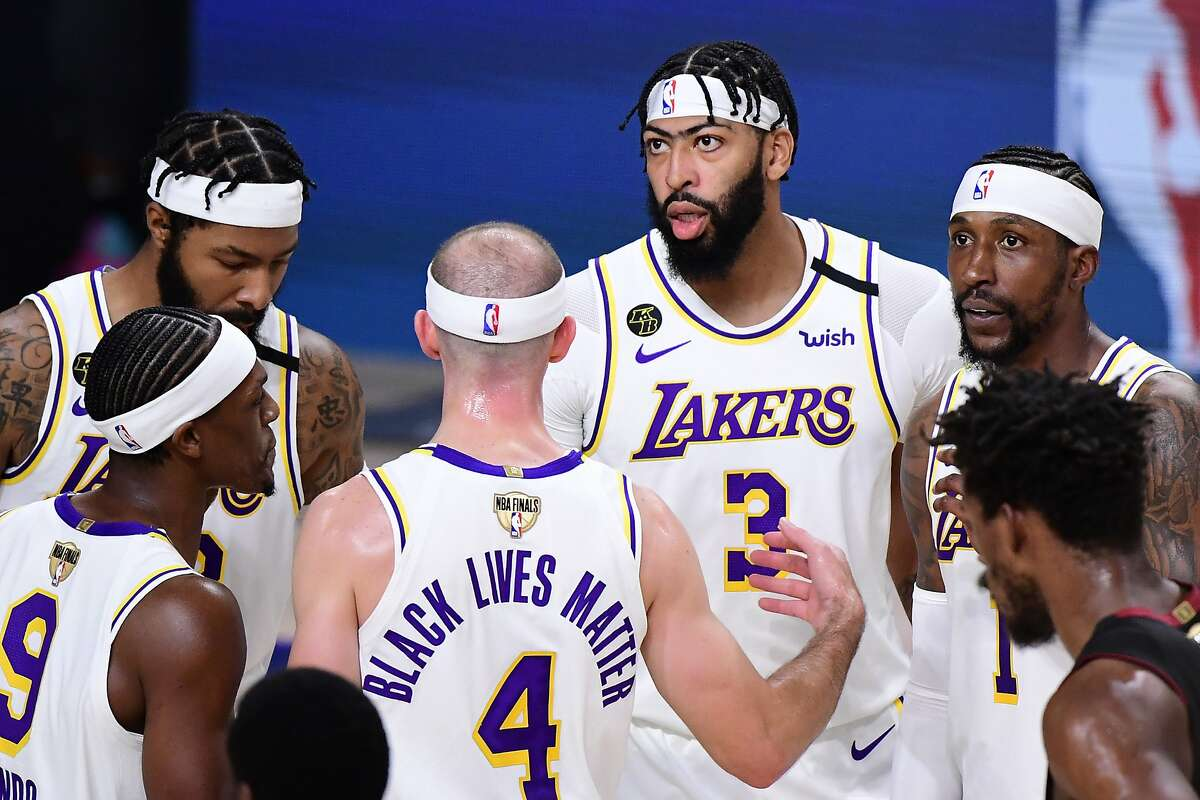 Lakers forward Anthony Davis (3) had 15 points in Game 3 and was a minus-26 against Miami.