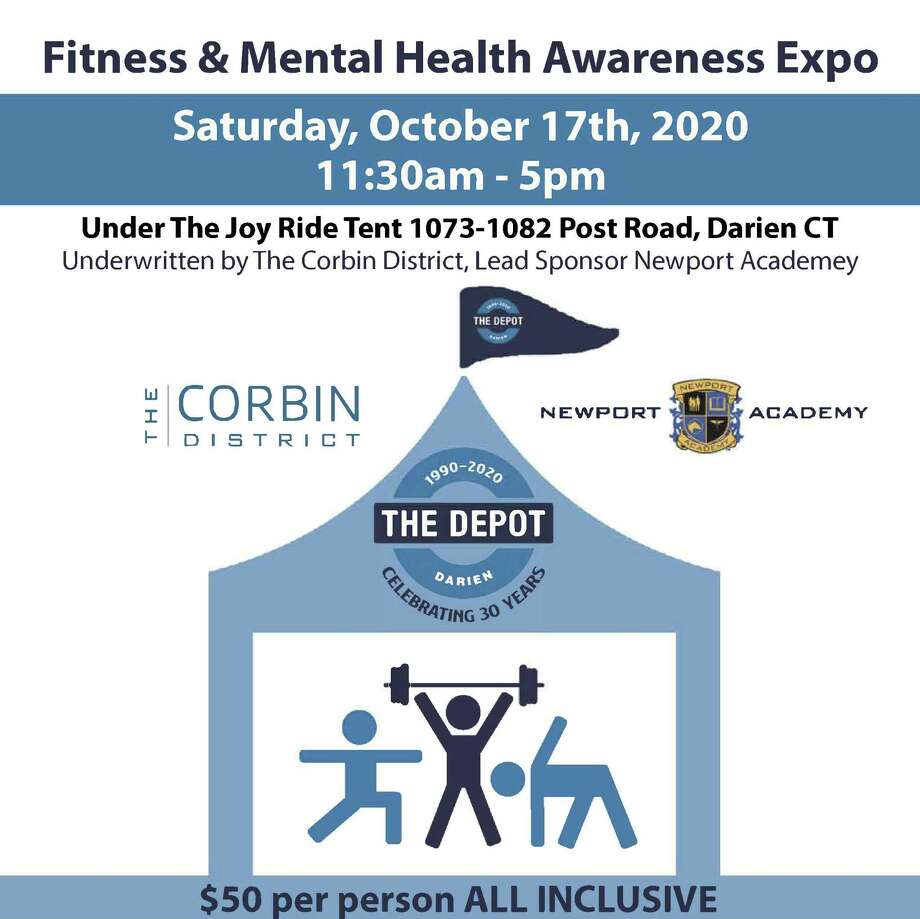 The Depot Youth Center is offering a Fitness & Mental Health Awareness Expo Saturday, Oct. 17, from 11 a.m.-5 p.m., under the Joy Ride tent, (behind Helen Ainson) in Darien. Rain date is Oct. 18. Photo: The Depot Youth Center