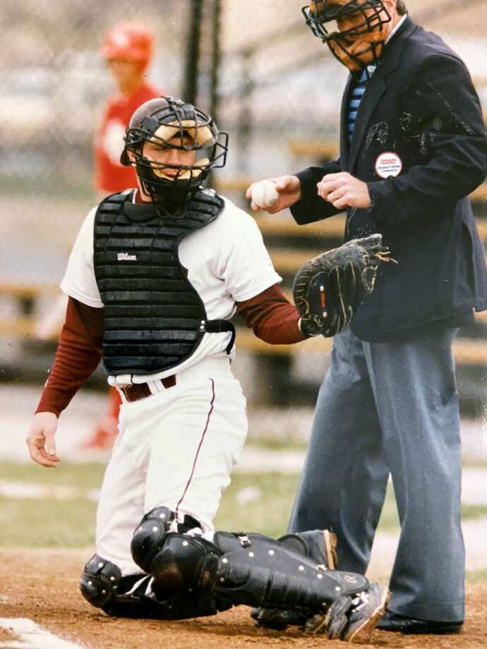 J.J. Scerba, left, was the starting catcher for Edwardsville when the Tigers won the Class AA state championship in 1990, and in 1991, when a loss in the state title game ended their 64-game winning streak. Photo: For The Intelligencer