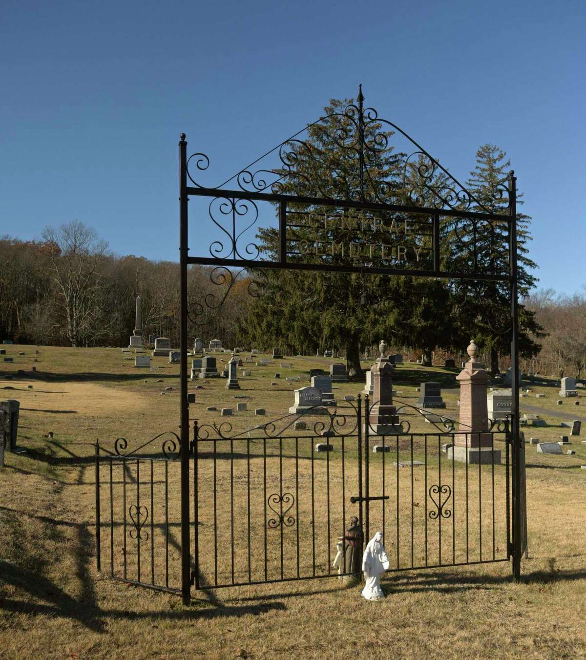Central Cemetery in Brookfield. Thursday morning, November 21, 2019, in Brookfield, Conn.