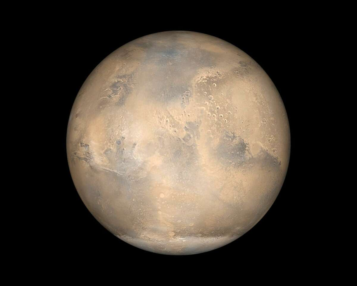 Mars will appear unusually bright in the sky this month.