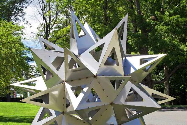"The exhibit ""Frank Stella's Stars, A Survey"" at the Aldrich Contemporary Art Museum showcases artwork such as ""Jay's Star."""