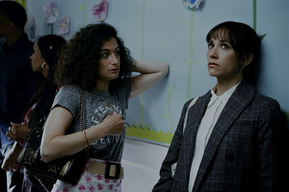 "Jenny Slate, left, and Rashida Jones in ""On the Rocks."""