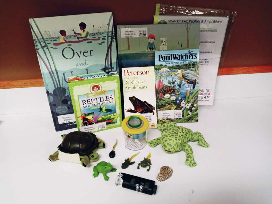 The Ridgefield Conservation Commission and the Ridgefield Library recently collaborated to create four new, hands-on, STEAM kits focused on the natural world and habitats in Ridgefield. Photo: Contributed / The Ridgefield Conservation Commission