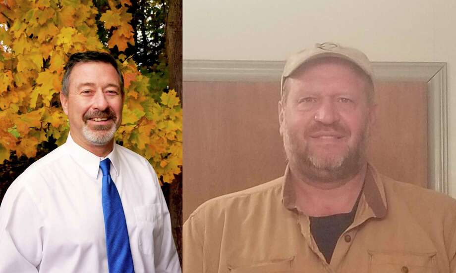 Republican Jeff Dontz (left) and Democrat William Schoedel (right), candidates for the 5th district Manistee County Board of Commissioners will face off on the Nov. 3 election. (Courtesy Photo)