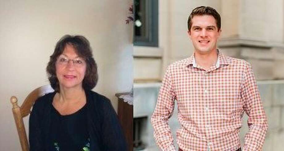 Voters will choose between incumbent Karen Wrzesinski-Goodman (D) and Andrew Reed (R) for the 6th district Manistee County Board of Commissioners seat. (Courtesy photos)