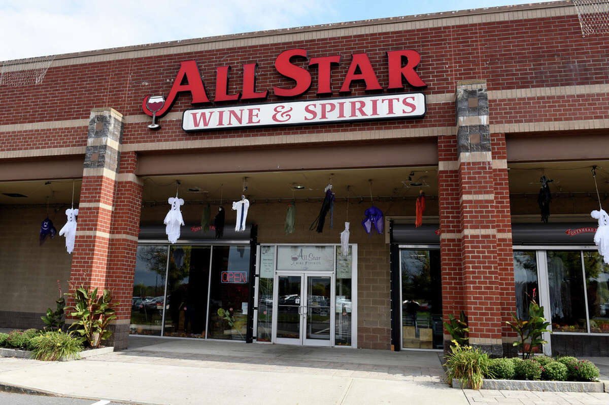 Exterior of All Star Wine & Spirits on Monday, Oct. 5, 2020, at Latham Farms in Colonie, N.Y. (Will Waldron/Times Union)