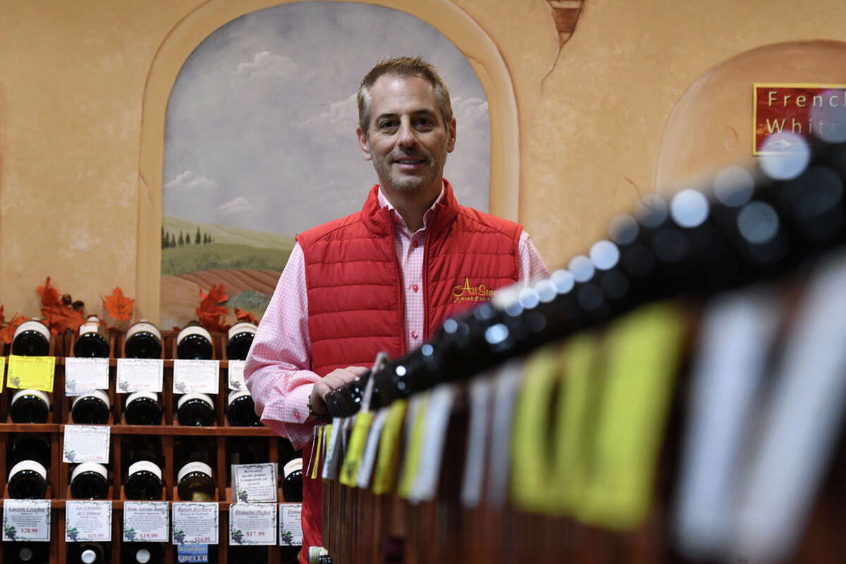 Craig Allen, proprietor of All Star Wine & Spirits, is pictured in his Latham Farms store on Monday, Oct. 5, 2020, in Colonie, N.Y. (Will Waldron/Times Union)
