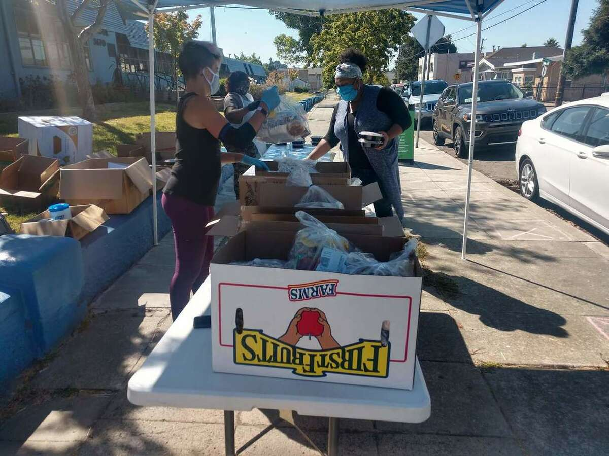 Oakland Unified School District is distributing free meals and food boxes to families amid the coronavirus pandemic.