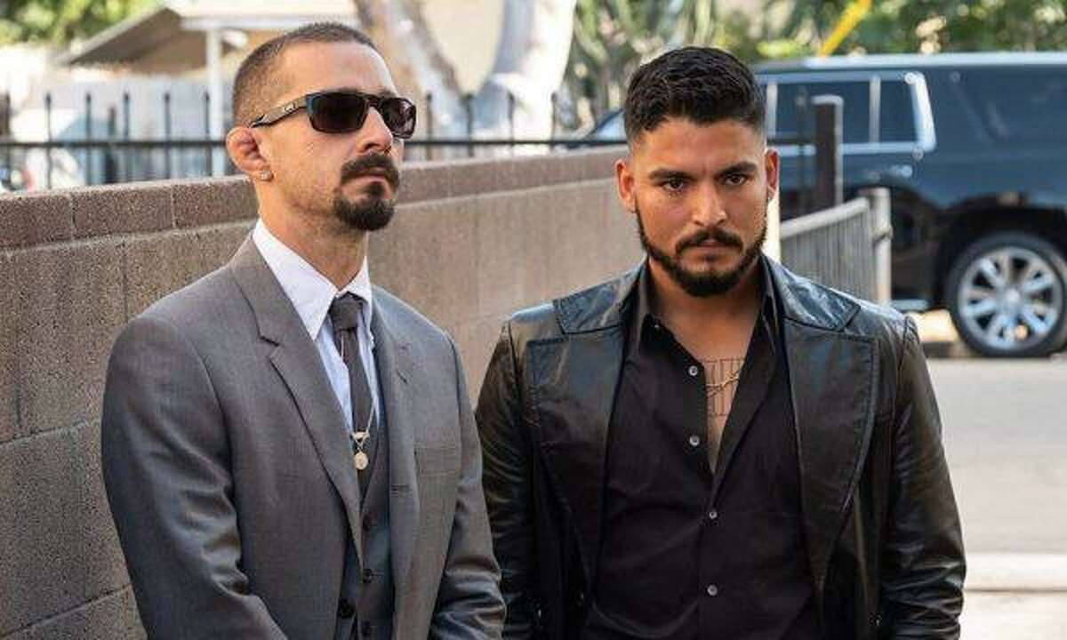 Shia LaBeouf (left) and Bobby Soto star in