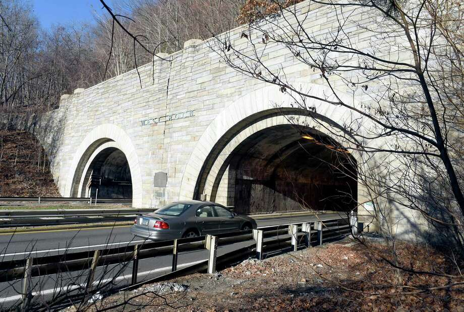 The Heroes Tunnel, formerly the West Rock Tunnel, on the Wilbur Cross Parkway in New Haven. Photo: Arnold Gold / Hearst Connecticut Media