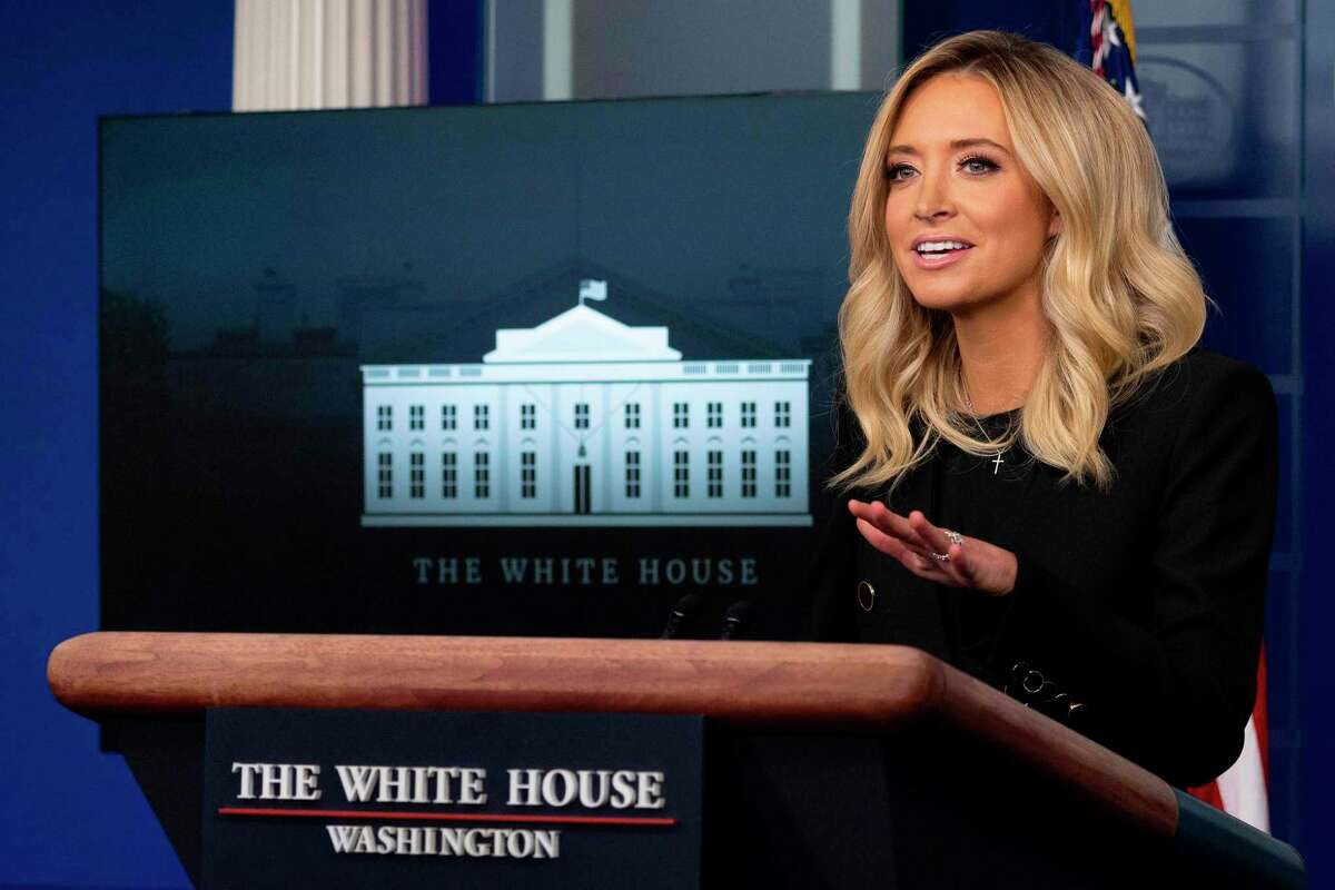 Masks, viewed as a sign of disloyalty, were few and far between at the White House. Kayleigh McEnany, the face of administration propaganda, didn't wear a mask when briefing reporters Sunday, even though she'd been exposed to the virus and would later test positive.