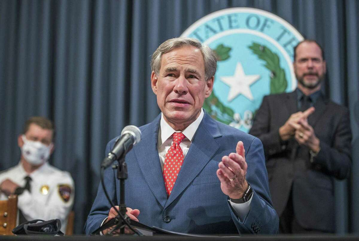Texas Gov. Greg Abbott gave a press conference in October announcing the re-opening of many businesses in Texas.