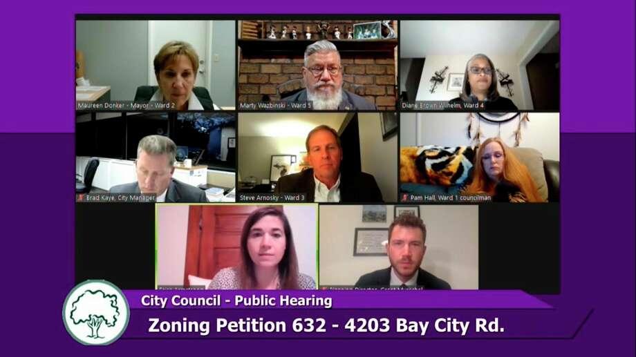 Midland City Council met virtually on Monday, Oct. 5, 2020. (Screen photo/MCTV)