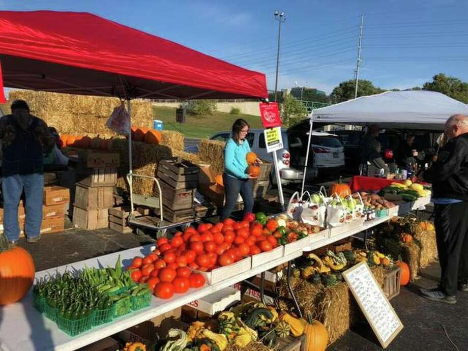 The markets run Saturdays 8 a.m. to noon through Oct. 17 in the parking lot at the corner of Landmarks Boulevard and Henry Street in Alton.