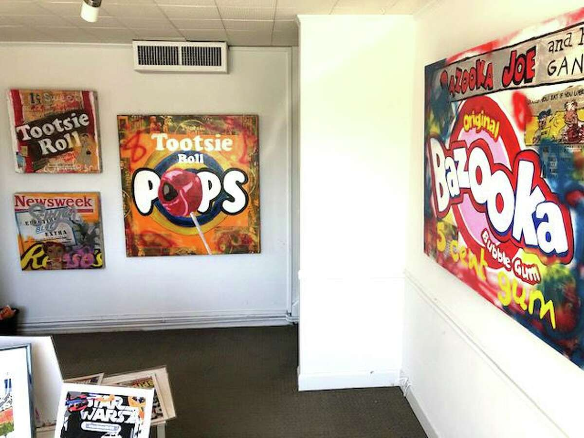 A pop-up art show featuring the work of David Morico and Dollka Morico is on display at 6 South Avenue in New Canaan.
