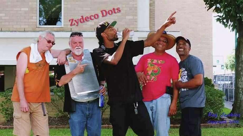 The Zydeco Dots kick off the Cajun Stage at the Conroe Cajun Catfish Festival on Saturday at 12:30 p.m. Pictured from left are band members Tom Potter, Mike Vee, Malcolm Rossyion, Joe Rossyion and Thurman Hurst. Photo: Photos Courtesy The Zydeco Dots