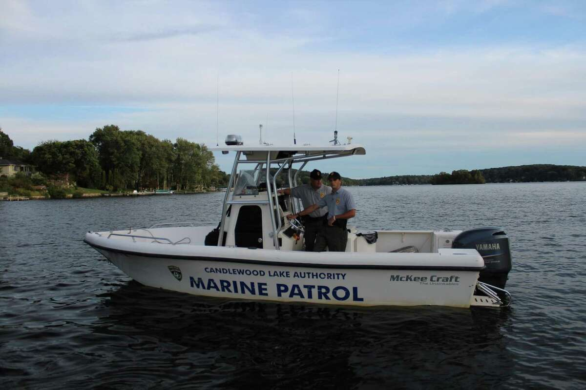 A marine patrol boat on Candlewood Lake part of the Connecticut Lake Authority's Lake Patrol. A new boat is being purchased to replace the 2002 McKee Patrol Boat which has developed serious cracks in its transom and was taken out of service.