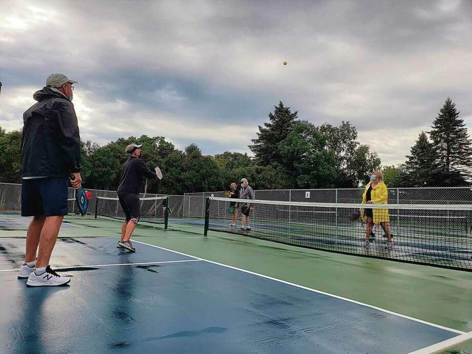 A ribbon cutting ceremony was held in September for pickleball courts in Manistee Township, which were completed in 2019. The township received a grant from the Manistee County Community Foundation to help fund the courts. The foundation is currently accepting grant applications for projects and programs through its final 2020 grant application deadline on Oct. 15. (File photo)