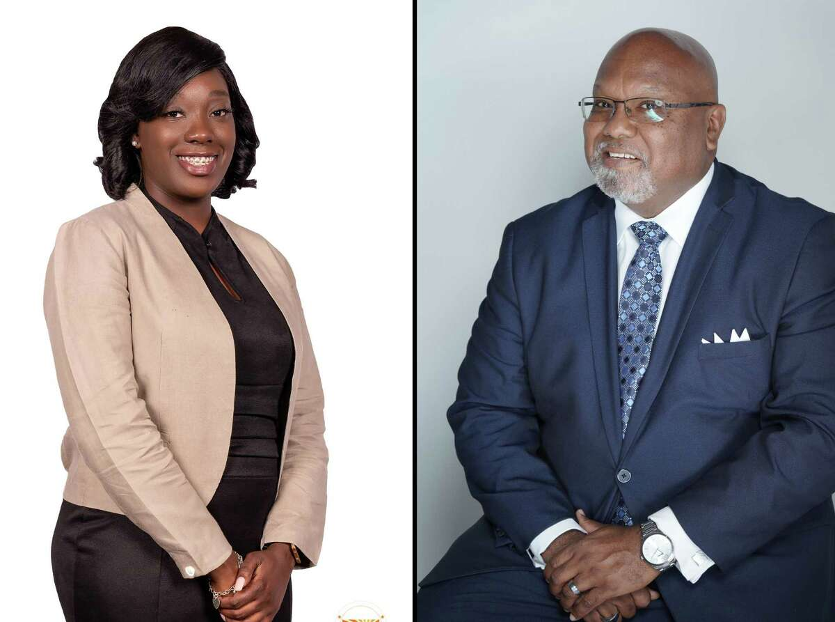Reginald Pearson (right) and incumbent candidate Vashaundra Edwards, (left) are running for Missouri City City Council Position 1 in the upcoming Nov. 3 election.