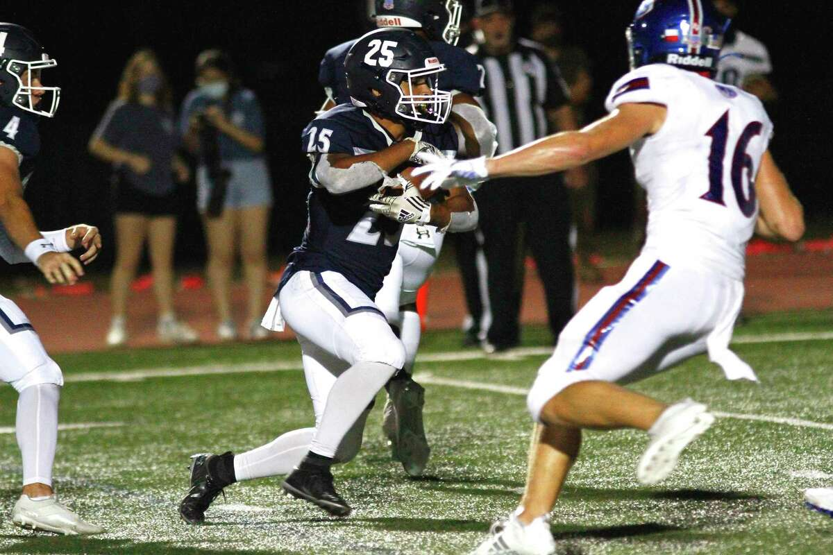 Richard Rodriguez's fourth rushing touchdown late in the fourth quarter lifted Tomball Memorial over Beaumont West Brook 66-63 in non-district play, Oct. 2, at Tomball ISD Stadium.