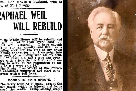 Raphael Weill, owner of the White House department store, dedicated his life after the 1906 earthquake and fires to the resurrection of San Francisco.