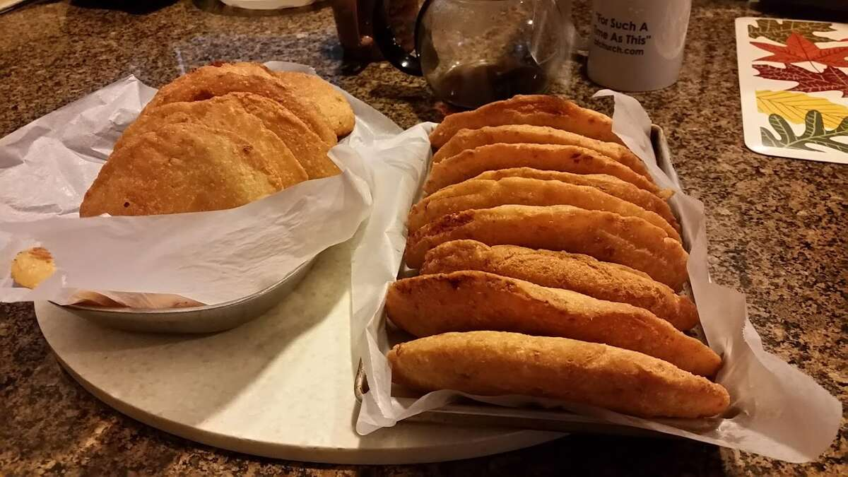 These are my tia Letty's cheese empanadas after being cooked.
