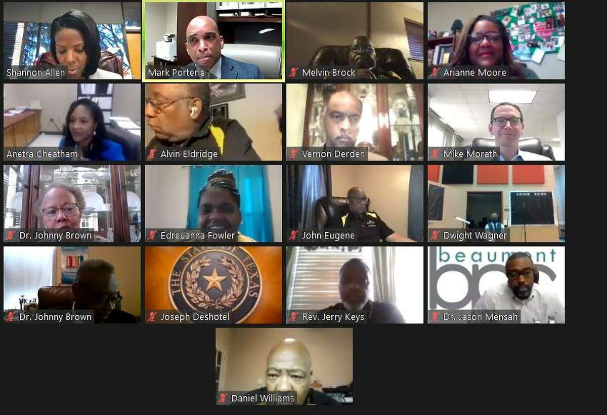 Texas Education Commissioner Mike Morath met with local district leaders and other community members in a virtual town hall Tuesday to discuss education amid the ongoing pandemic. Screen Grab on 10/6/2020 by Isaac Windes / Beaumont Enterprise