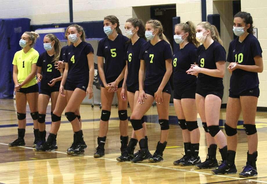 The Bad Axe varsity volleyball team picked up a sweep of host USA on Thursday night. Photo: Mark Birdsall/Huron Daily Tribune