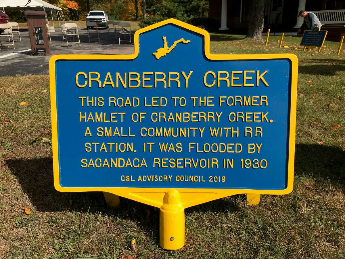 The Great Sacandaga Lake Advisory Council commissioned 15 historical markers to commemorate places and landmarks lost when the reservoir was built.