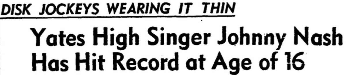Houston Chronicle headline published on Oct. 18, 1956.