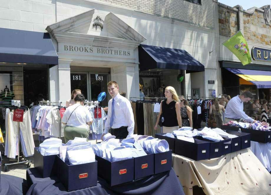 Brooks Brothers recently closed its doors on Greenwich Avenue. Photo: / Bob Luckey