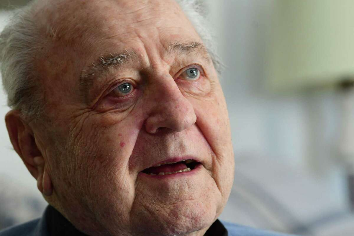 Father Peter Young, 90, is seen at his home on Tuesday, Oct. 6, 2020 in Albany, N.Y. (Lori Van Buren/Times Union)