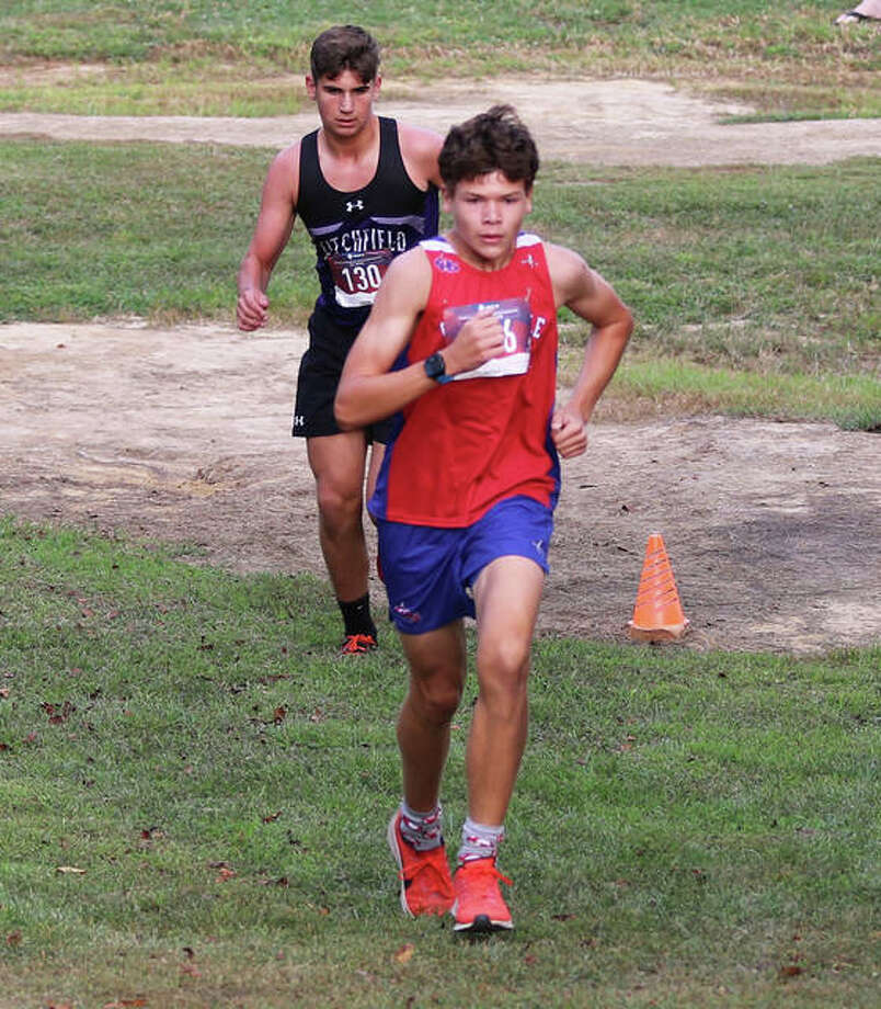 Carlinville's Will Meyer and Litchfield's Camden Quarton finished 1-2 Tuesday at the Carlinville Fall Fun Run.