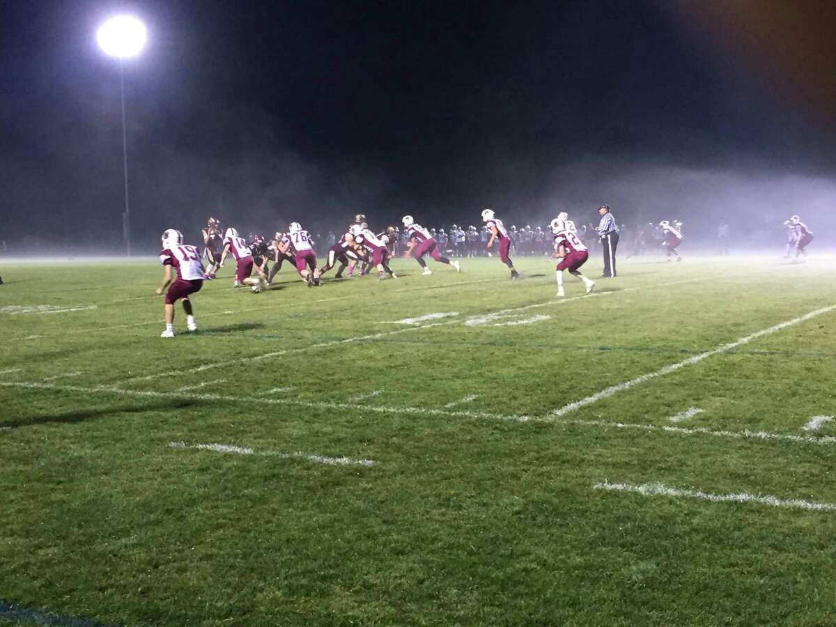 Alvirne quarterback Kyle Gora drops back to pass against a Goffstown defense returning eight starters from a 7-3 squad.