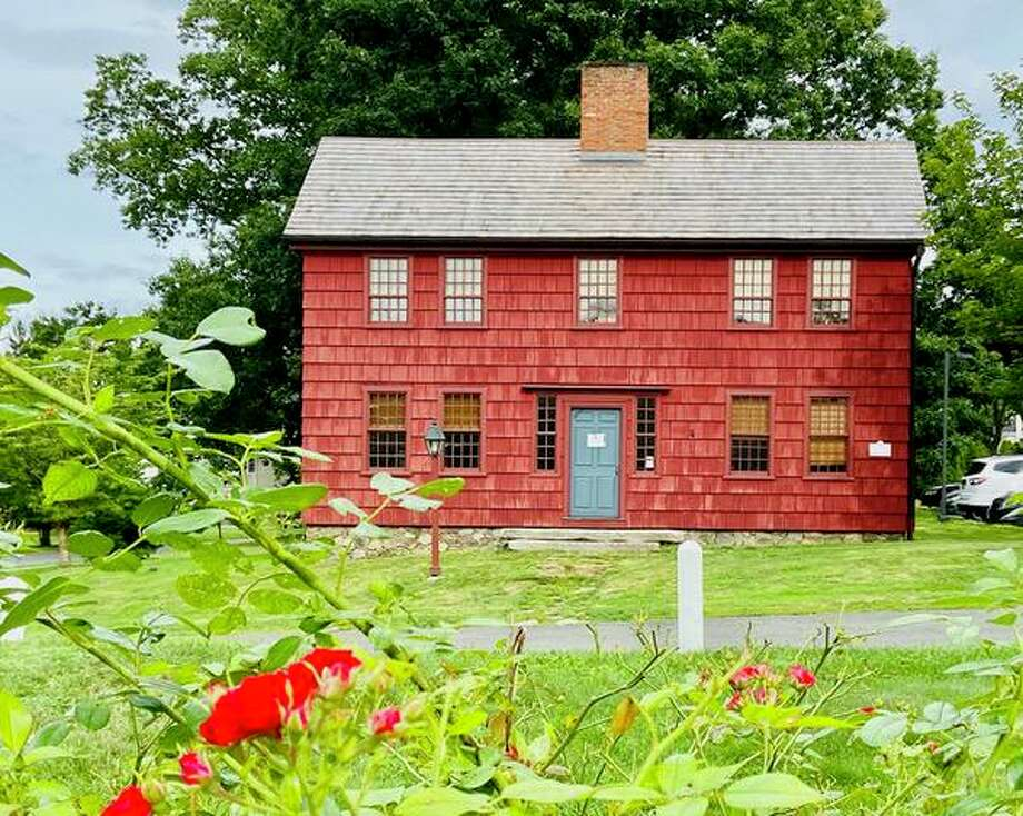 Scott House, the saltbox headquarters of the Ridgefield Historical Society at 4 Sunset Lane. Photo: Tracy Seem Photo